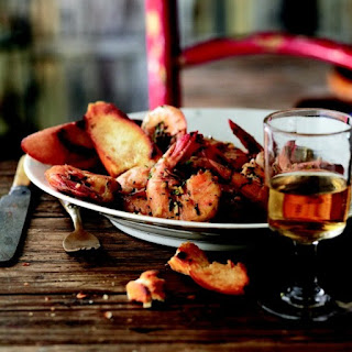 Curtis Stone's New Orleans 'barbecued' shrimp with amber ale.