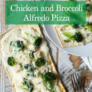 Chicken and Broccoli Alfredo Pizza