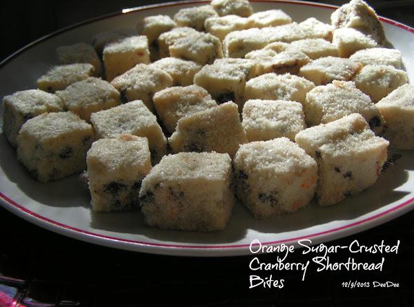 Orange Sugar-crusted Cranberry Shortbread Bites Recipe