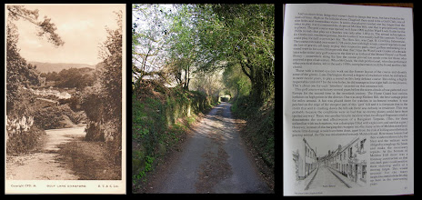 Photo: Chagford - Golf Lane, leading up to Meldon Common  RT&S (Rafael Tuck & Sons) - date unknown  Despite living only a few miles away for 25years, I had not heard of the old Chagford golf course! Having seen this postcard, I've been looking around and it is mentioned in some local history books - the image on the right is from The Great Little Chagford Book by Chips Barber.
