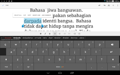 Dewan Eja Pro Malay Keyboard- screenshot thumbnail