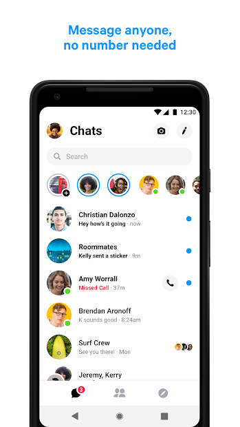 Messenger – Text and Video Chat for Free Android App Screenshot