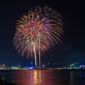 Pattaya Fireworks Festival. by John Greene - News & Events Entertainment ( colourful, thailand, fireworks, festival, show, pattaya, night, lights, fire, new year, dipawali, diwali, 2014 )