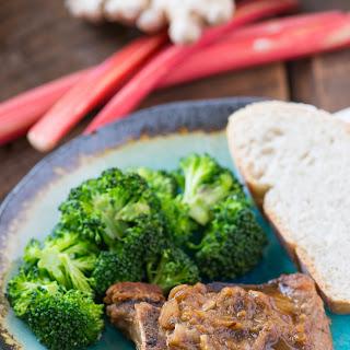 Rhubarb and Brown Sugar Skillet Pork Chops Recipe