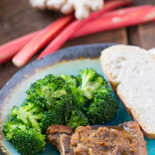 Rhubarb and Brown Sugar Skillet Pork Chops.