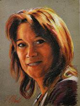 Photo: Pilar, retrato en pastel sobre cartón