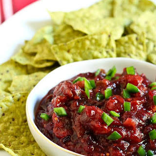 Two Ingredient Easy Cranberry Salsa