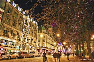 Photo: Christmas illumination on the Carl Johan street in Oslo, Norway  ノルウェー、首都オスロのクリスマスイルミネーション☆  #SaturdayNightLight #PaintItSaturday