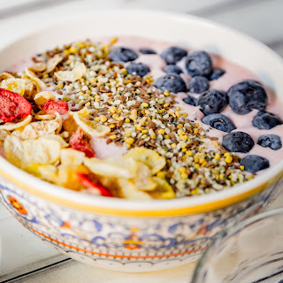 Strawberry Pineapple Smoothie Bowls.