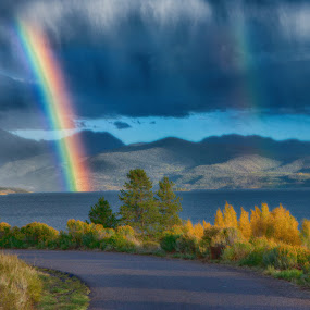 by John LeBlanc - Landscapes Weather ( granby, co, autumn, rainbows,  )