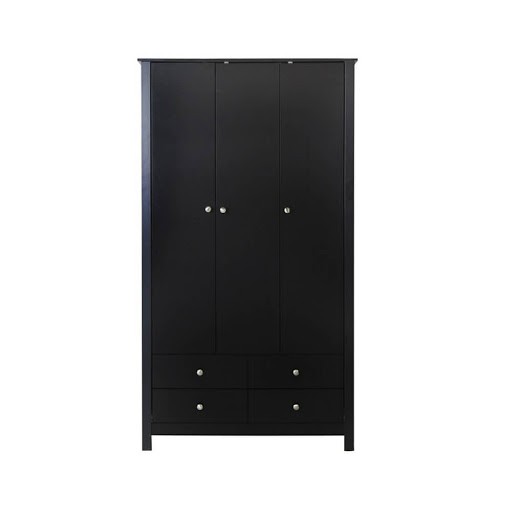 Florence Black 3 Door 4 Drawer Robe