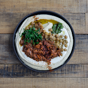Lamb & Beef Ragu on Hummus