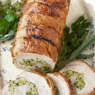 Roast Pork Loin with Herb Stuffing