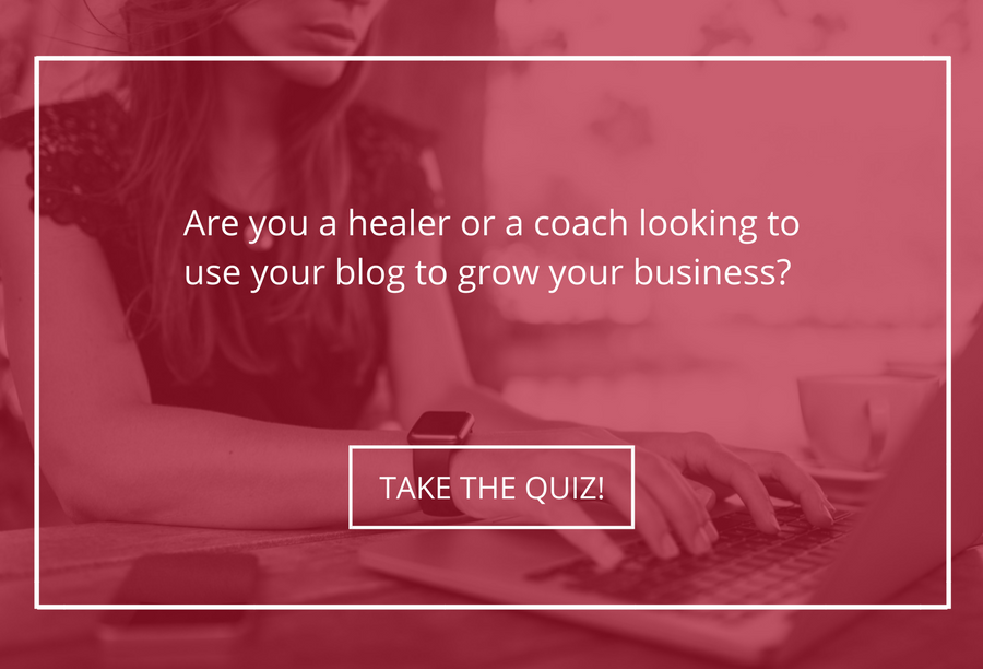 Healer or coach graphic for blogger quiz