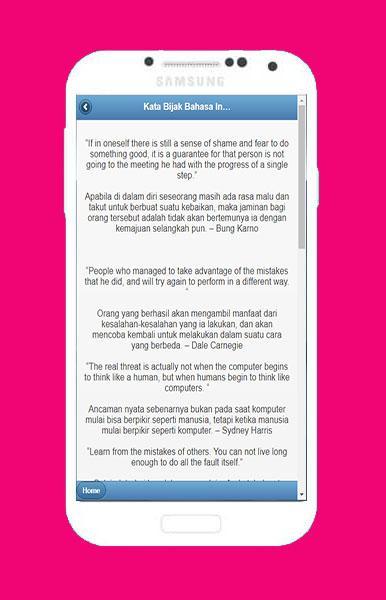 Kata Kata Bijak Bahasa Inggris Android تطبيقات Appagg