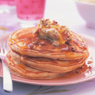 Buttermilk Pancakes with Whipped Praline Butter.