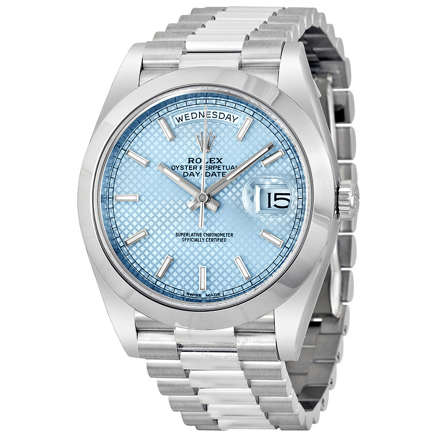 rolex-day-date-ice-blue-diagonal-motif-dial-platinum-president-automatic-men_s-watch-228206iblsp