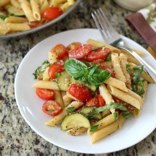 Tomato and Zucchini Penne Pasta (20 minute recipe)