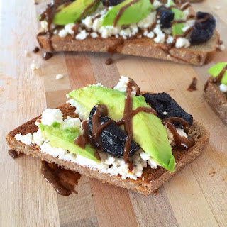 Dried Plum, Ricotta and Avocado Toast {The Recipe ReDux}.