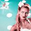 Wolke 7 by Christoph Reiter - Digital Art People ( studio, girl, vespa, cloud, points, eyes )
