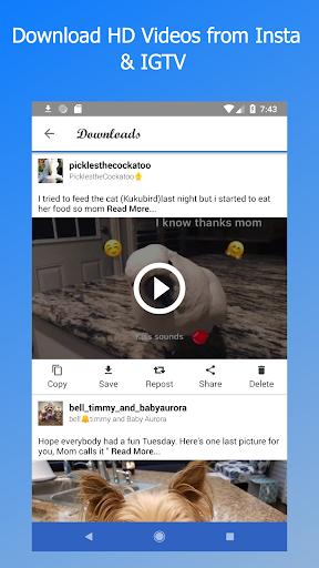 Video Downloader - for Instagram - Repost IV Saver 2.2.6.9 screenshots 1