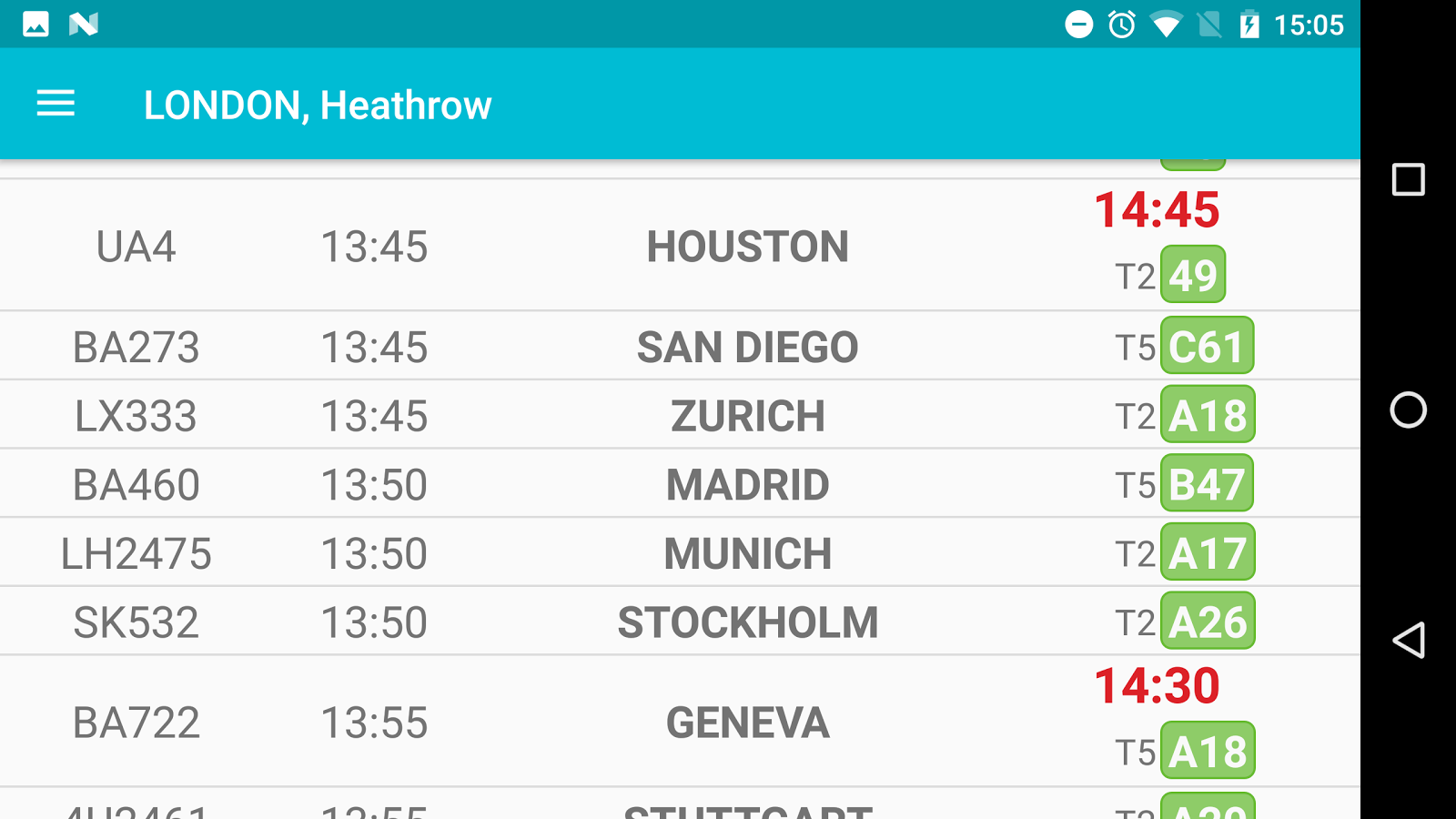 Flight Board- screenshot