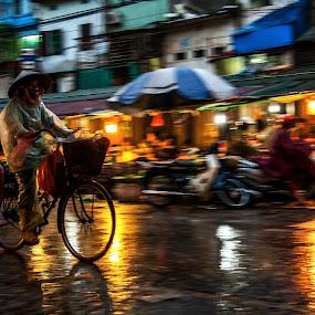 street in hanoi by Sorin Tanase - City,  Street & Park  Street Scenes