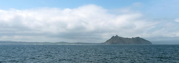 Photo: We weren't sure what to expect of the landscape of The Galapagos.  This is the approach to Isla San Cristobal.
