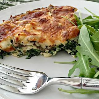 Spinach, Mushroom & Feta Quiche