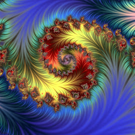 Feathered by Cassy 67 - Illustration Abstract & Patterns ( digital, love, harmony, abstract art, fractal art, island, spiral, abstract, water, digital art, fractals, fractal design, classic, modern, ocean, light, fractal, energy )