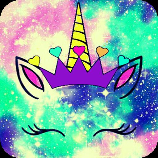 Cute Unicorn Girl Wallpapers - Kawaii backgrounds Icon