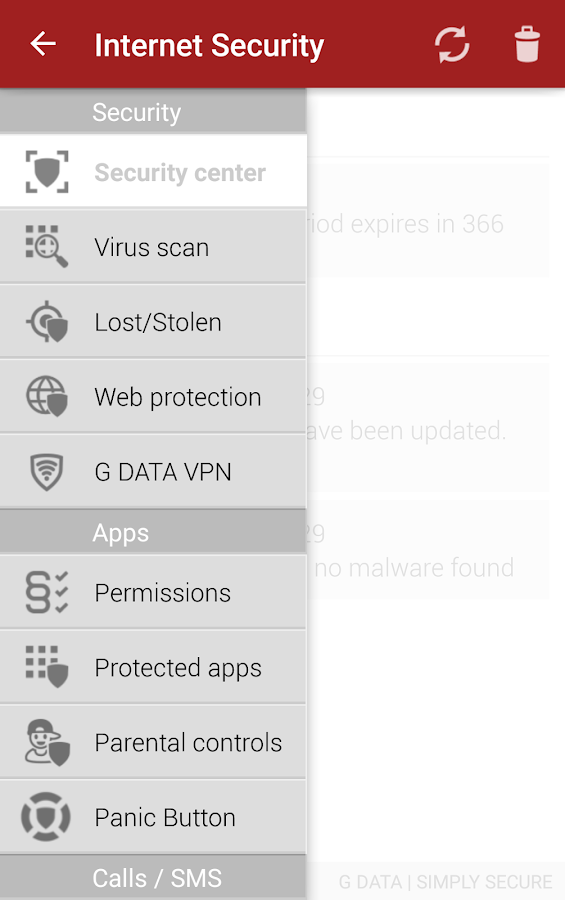 G DATA INTERNET SECURITY- screenshot