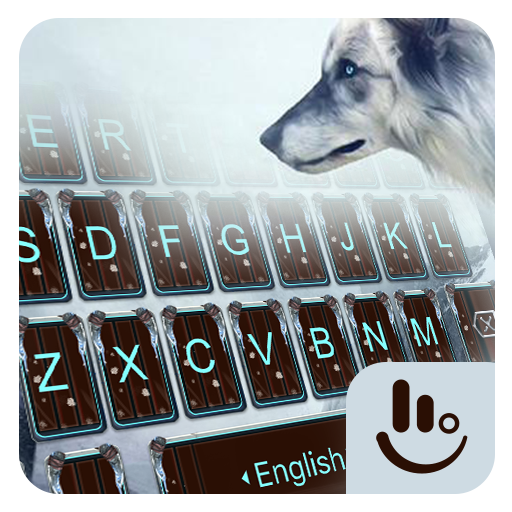 Winter Cold Wolf Keyboard Theme