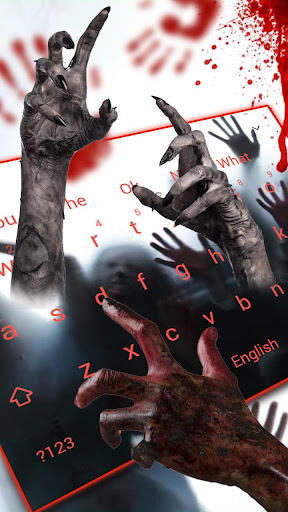 3D Live Walking Dead Zombie Keyboard 10001 screenshots 2