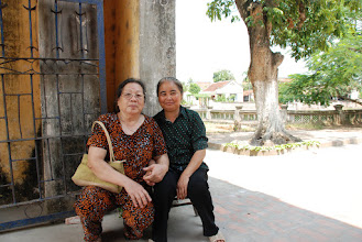 Photo: Mom and her old time friend in the village. They are still friends.