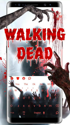 3D Live Walking Dead Zombie Keyboard 10001 screenshots 1