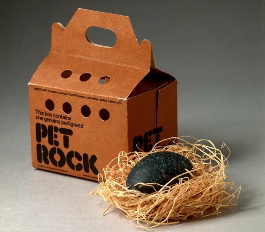 Pet Rock, uma pedra como animal de estimação!