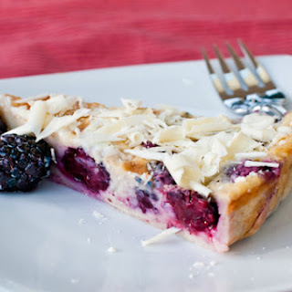 Blackberry Claufouti with Chambord and White Chocolate