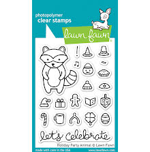 Lawn Fawn Clear Stamps 3X4 - Holiday Party Animal
