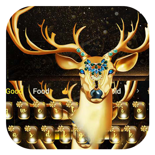 Sparkling diamonds christmas elk keyboard