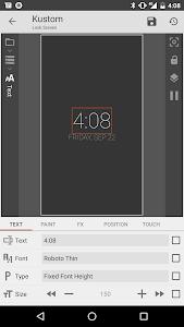 KLCK Kustom Lock Screen Maker 3.32b810408beta (332810408) (Arm + Arm64 + mips + mips64 + x86 + x86_64)