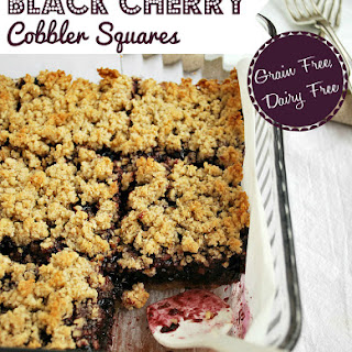 Black Cherry Cobbler Squares {Grain & Dairy Free}