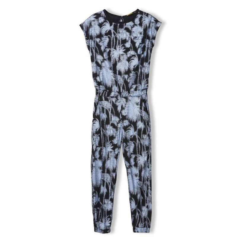 Paradise Palm Trees Knitted Jumpsuit Jersey
