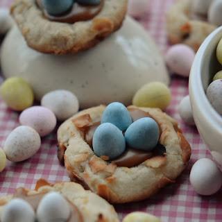 Pretzel Birds Nest Cookies