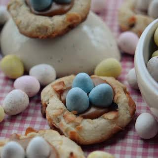 Pretzel Birds Nest Cookies.