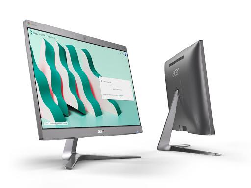 Acer Chromebase for Google Meet angled right