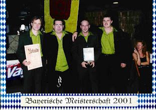 Photo: 2001: 5. Bayersicher Meister Mannschaft unverbaut