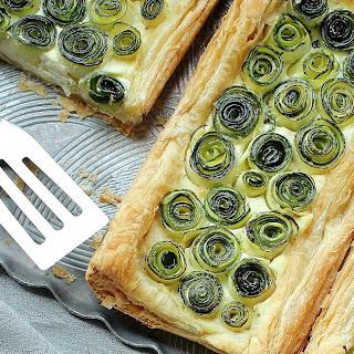Zucchini Rosette Tart