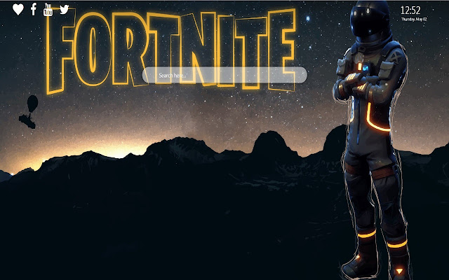 Dark Voyager Wallpaper New Tab Fortnite Skin