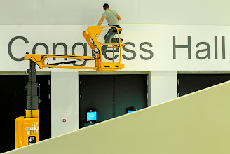 Photo: DAVOS/SWITZERLAND, 22JAN12 - Staff members are seen during preparations at the congress centre, venue of the upcoming  Annual Meeting 2012 of the World Economic Forum in Davos, Switzerland, January 22, 2012.  Copyright by World Economic Forum swiss-image.ch/Photo by Nadja Simmen